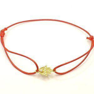 Handmade Red String Hamsa adjustable bracelet